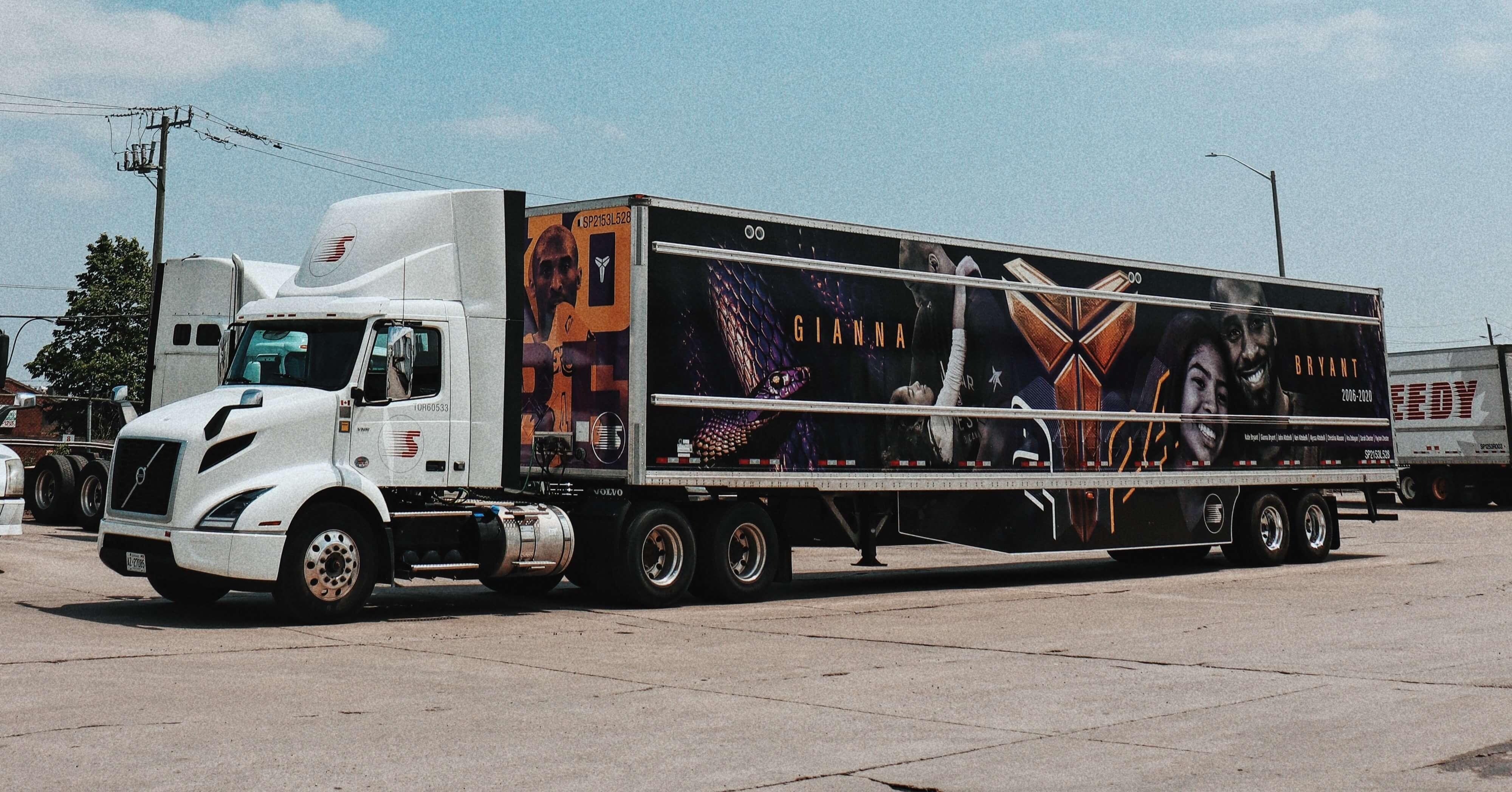 Habillage de camion Kobe Bryant gagnant du prix 3M PMTC
